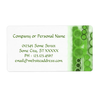 Business Label Green Lines Cycles Watercolors v2
