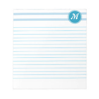 Business Lines with Monogram Lined Memo Notepad