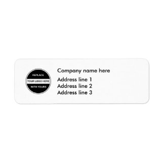 Business return address labels templates zazzle for Business logo return address labels