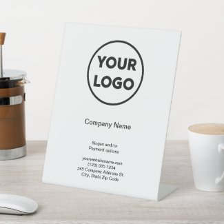 Business Logo Company Name Promotional Store Pedestal Sign