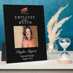 Business logo employee of the month photo award plaque