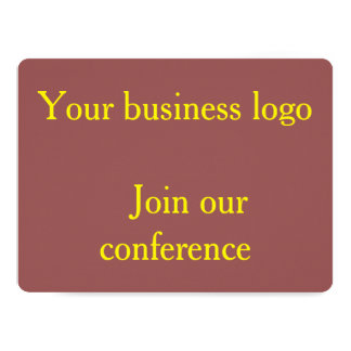 Business logo / join our conference card