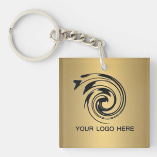Business logo keychain template