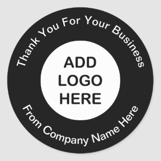 Business Logo Thank you Stickers