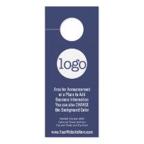 Business Logo with Announcement and Contact Info Door Hanger