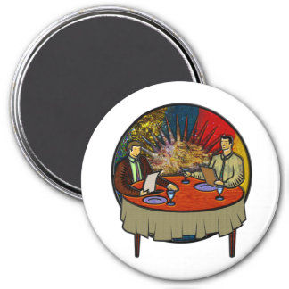 Business Lunch 3 Inch Round Magnet