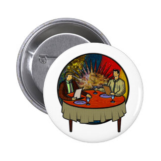 Business Lunch Pinback Button