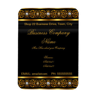 Business Magnet Card Black Gold Company 2