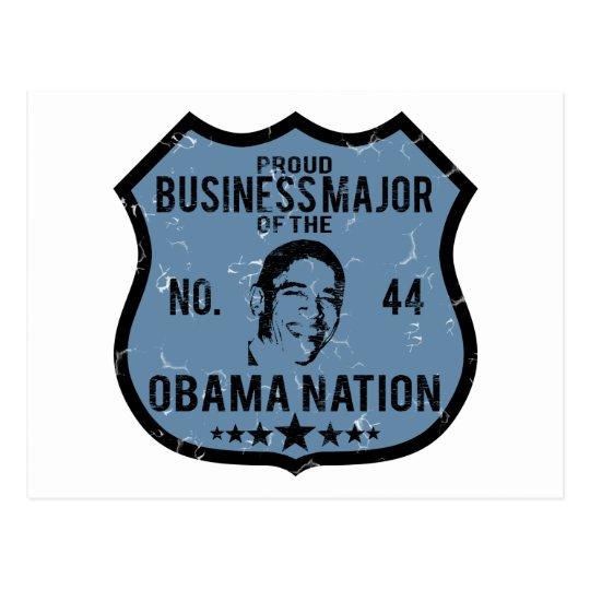 Business Major Obama Nation Postcard