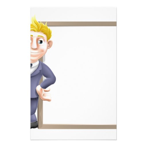 Business man and sign stationery