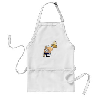 Business Man Drinking Beer Apron