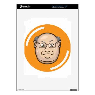Business Man face iPad 2 Decals