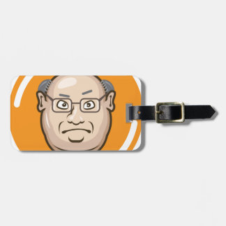 Business Man face Luggage Tag