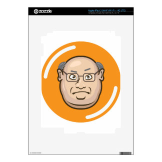 Business Man face Skin For iPad 3