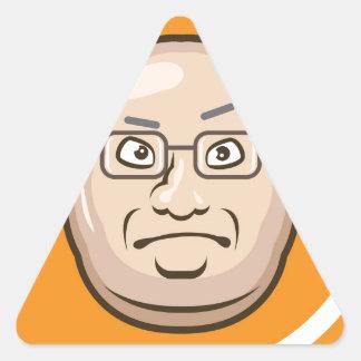 Business Man face Triangle Sticker