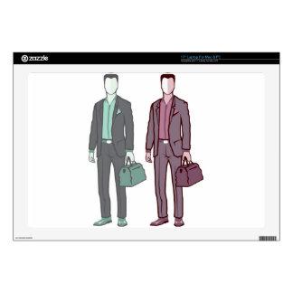 Business Man Laptop Decal