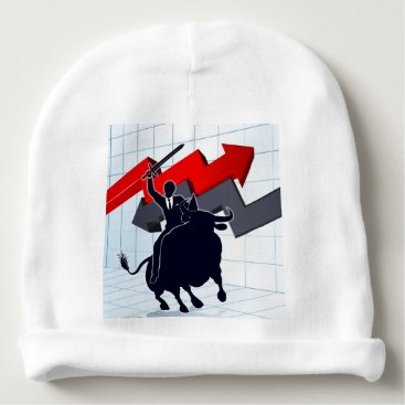 Professional Business Business Man on Bull Profit Concept Baby Beanie