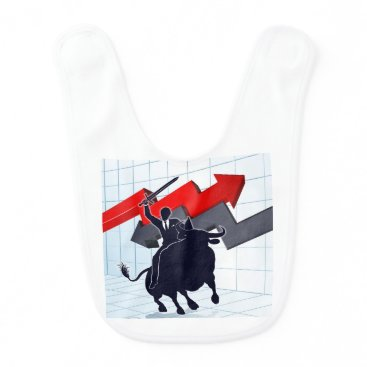 Professional Business Business Man on Bull Profit Concept Baby Bib