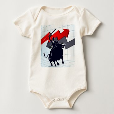 Professional Business Business Man on Bull Profit Concept Baby Bodysuit