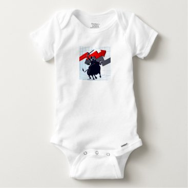Professional Business Business Man on Bull Profit Concept Baby Onesie