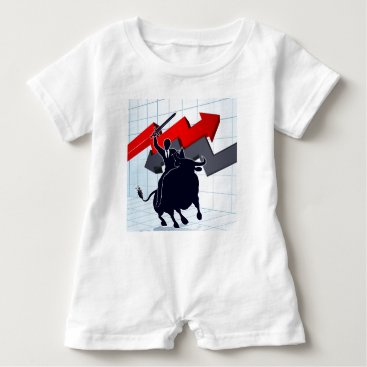 Professional Business Business Man on Bull Profit Concept Baby Romper