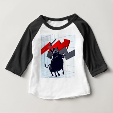 Professional Business Business Man on Bull Profit Concept Baby T-Shirt