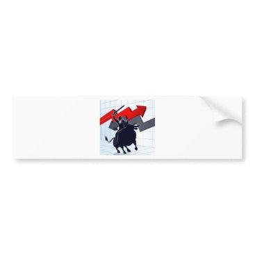 Professional Business Business Man on Bull Profit Concept Bumper Sticker