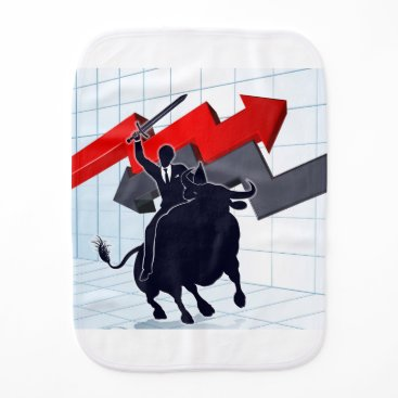 Professional Business Business Man on Bull Profit Concept Burp Cloth