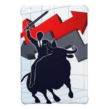 Business Man on Bull Profit Concept iPad Mini Covers