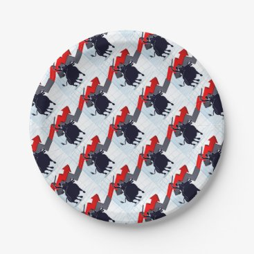 Professional Business Business Man on Bull Profit Concept Paper Plate