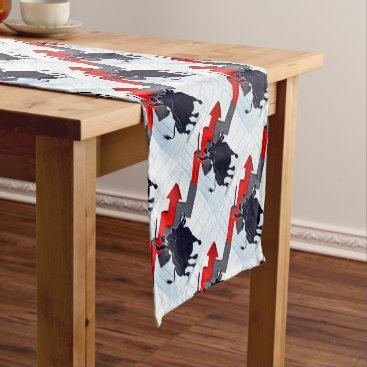 Professional Business Business Man on Bull Profit Concept Short Table Runner