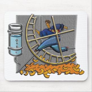 Business man on hamster wheel Mousepad
