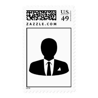 Business man postage stamp