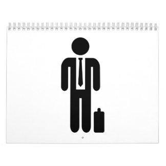 Business man suit calendar