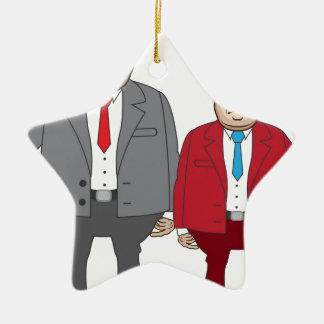 Business Man with Money Ceramic Ornament