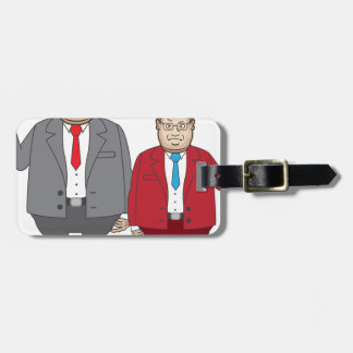 Business Man with Money Luggage Tag
