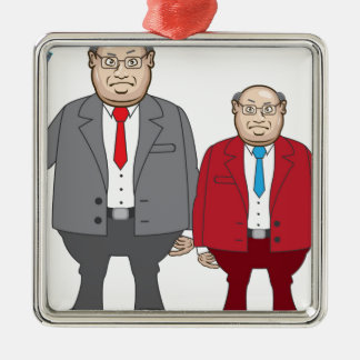 Business Man with Money Metal Ornament