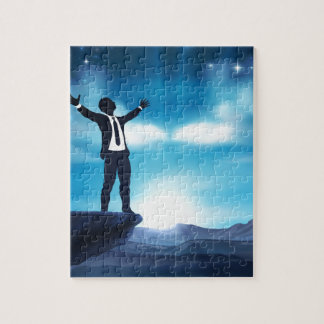 Business Man With Raised Arms Concept Jigsaw Puzzle