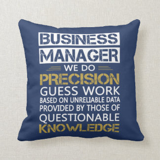BUSINESS MANAGER THROW PILLOW
