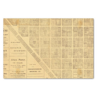 """Business Map of San Francisco 10"""" X 15"""" Tissue Paper"""