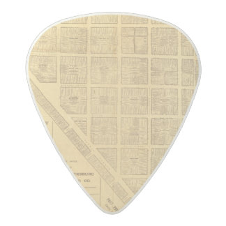 Business Map of San Francisco Acetal Guitar Pick