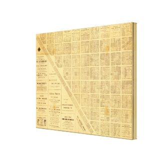 Business Map of San Francisco Gallery Wrapped Canvas