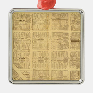 Business Map of San Francisco Christmas Ornament