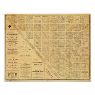 Business Map of San Francisco Poster