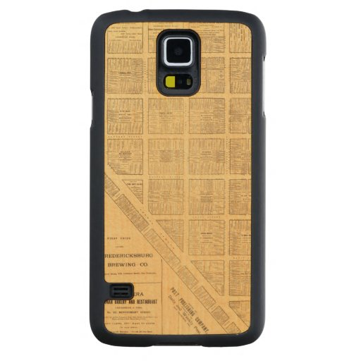 Business Map of San Francisco Carved® Maple Galaxy S5 Slim Case
