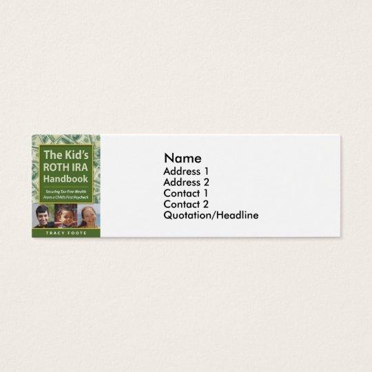 Business Marketing Ideas Author Book Promotion Mini Business Card