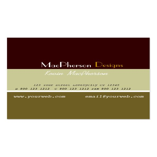 Business Masculine  Designer Business Card