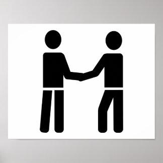 Business men shaking hands poster