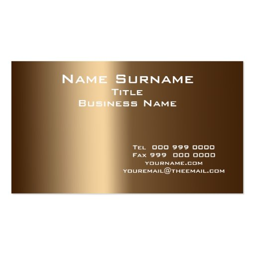 Business Normal size and Colors Business Card