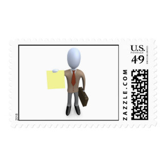 Business Note Postage Stamp